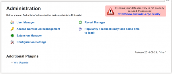 Dokuwiki security error with nginx